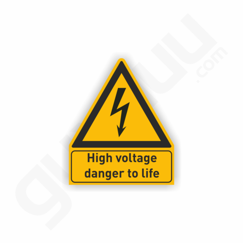 High voltage danger to life